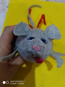 Мышка из фетра своими руками