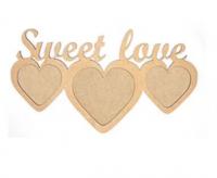 "Заготовка ROSA TALENT рамка ""Sweet Love"", МДФ, 37х20см шт (+2200)"