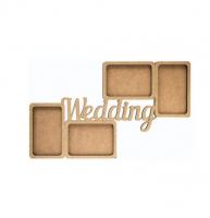 """Заготовка ROSA TALENT рамка """"Wedding"""", 2 шт, МДФ, 50*28*0,6см, шт (+2205)"""