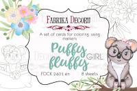 "Набор открыток для раскр. fdeco маркерами ""Puffy Fluffy Girl"" шт (+04112)"