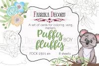 "Набор открыток для раскр. fdeco маркерами ""Puffy Fluffy Boy"" шт (+04113)"