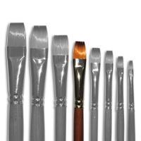 Кисти Живопись 1112 10 №10 Синтетика плоская длинная ручка рыжий ворс шт (+2100)