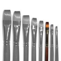 Кисти Живопись 1112 06 №6 Синтетика плоская длинная ручка рыжий ворс шт (+2098)
