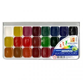 Краски акварель Луч *Классика*мед.24 цвета шт (+499)