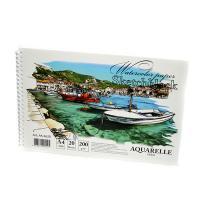 Альбом для акварели -планшет спиральА5 20л 200гр/м2 АК5620 Kraft White  (+05951)