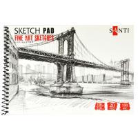 "Альбом для графики Santi Studio А5, ""Fine art sketches"", 20 л. 190 г / м2( скетчбук) шт (+05783)"