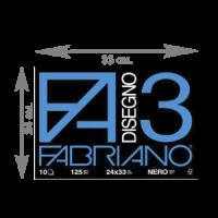 Альбом Fabriano для пастели Disegno 3 nero24-33 см 125 г\м.кв 10 листов шт (+1381)