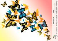 Бумага для скрапбукинга artmag Бабочки В 004  двухсторонняя 210*270 мм 200г/м шт (+05740)
