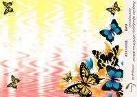 Бумага для скрапбукинга artmag Бабочки В 005  двухсторонняя 210*270 мм 200г/м шт (+05741)