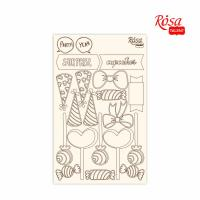 "Чипборд для скрапбукинга ROSA TALENT ""Cake delicious"" 2, картон, 13х20см шт (+1930)"