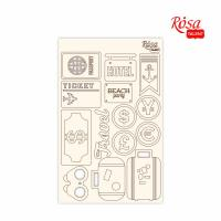 "Чипборд для скрапбукинга ROSA TALENT ""Make your journey"" 2,  картон, 13х20см шт (+1928)"