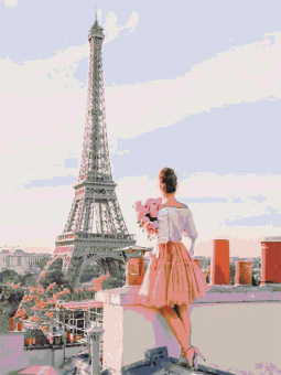 "Картина по номерам artmag 40*50 см ""Яркий Париж"" схема+краски+кисти К015 шт (+05151)"