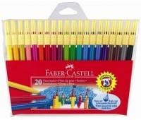 Фломастеры Faber castl в полиэтилен упак 20 цв Fibre-tip 155120 шт (+255)