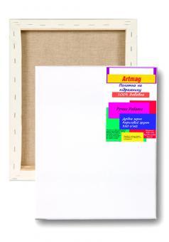 Подрамник с полотном artmag 30х40 упакованный хлопок 320 г/м2 подвернутый  Планка 25х16  (+05260)