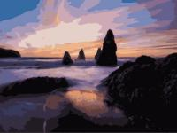 "Картина по номерам artmag 50*40 см ""Морской закат"" схема+краски+кисти К002 шт (+05141)"