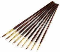 Кисти KOLOS Колонок круглый № 10 длинная ручка Grace 3039R, шт (+03804)