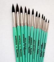 Кисти Живопись 4121 Белка круглая № 06 короткая ручка черный ворс шт (+669)