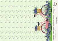 Бумага для скрапбукинга artmag Лаванда 1 двухсторонняя 210*270 мм 200г/м шт (+05905)