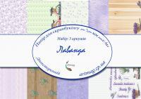 Бумага для скрапбукинга artmag Набор Лаванда двухсторонняя 210*270 мм 200г/м 5 листов шт (+05906)