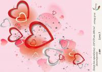 Бумага для скрапбукинга artmag Love 5 L005 двухсторонняя 210*270 мм 200 г/м шт (+05857)