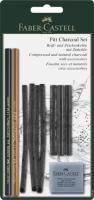 Набор в блистере Faber castl MONOCHROME PITT, GRAPHITE 10 предметов 112996  (+03990)