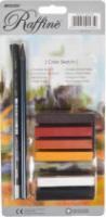 Набор для графики Markо (1 цельнографитный+1 угольный+пастель 6 цветов) блистер №7991-BL шт (+2780)