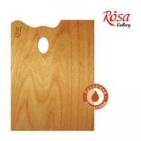 Палитра ROSA Gallery деревянная, прямоугольная, эргономичная, промасленная, 20x30 см шт (+1027)