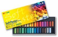 Пастель сухая MUNGYO профессиональная, 1/2 мягкая, 32 цвета., квадрат, MPS-32  (+04563)