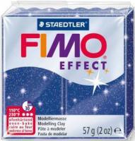 Пластика Fimo Effekt,синяя с блестками 57г шт (+3010)