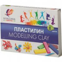 Пластилин Луч 8цв Классика к/к №12С867-08 шт (+2662)