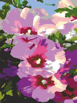 """Картина по номерам artmag 40*50 см """"Мальвы"""" схема+краски+кисти К021 шт (+05166)"""