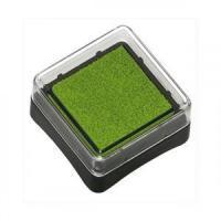 Штемпельная подушка Heyda Свело-зеленая,с пигментным чернилом,  2,5*2,5 см шт (+2510)
