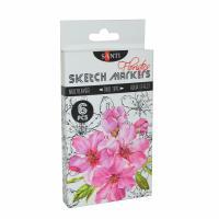 Скетч маркер Santi Studio 2-ух сторонние Набор 6шт/упаковка Floristics  (+04874)