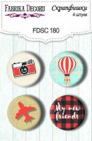 Скрапфишки fdeco 4 шт Набор 180 шт (+3083)