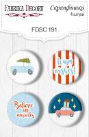 Скрапфишки fdeco 4 шт Набор 191 шт (+3081)