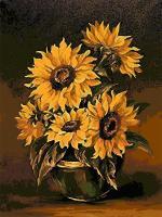 "Картина по номерам artmag 40*50 см ""Подсолнухи"" схема+краски+кисти К013 шт (+05144)"