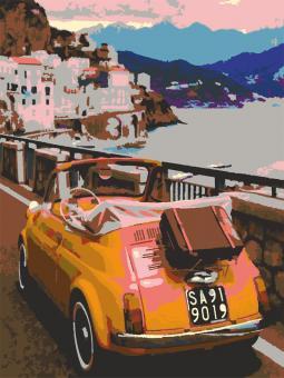 "Картина по номерам artmag 40*50 см ""Яркая Грузия"" схема+краски+кисти К018 шт (+05165)"